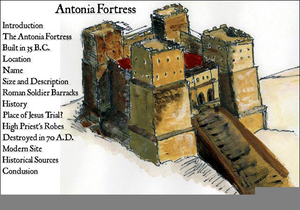 Antonia Fortress Map Image