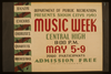 Department Of Public Recreation Presents Sioux Citys [sic] 1940 Music Week Bands, Choirs, Choruses, Quartets, Orchestras. Image