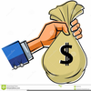 Hand Holding Money Clipart Image