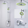 Contemporary Chrome Finish Brass Shower Faucet With Inch Fashion Shower Head Image