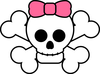 Cute Skull Pink Bow Image