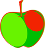 Red Green Apple Image