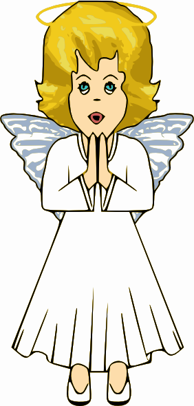 free clip art praying angels