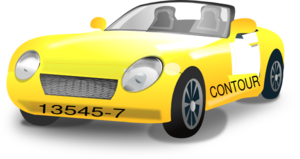 Yellow Contour Car Clip Art