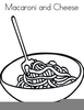 Noodles Clipart Black And White Image