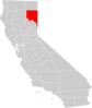 California County Map Lassen County Highlighted Clip Art