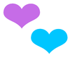 Blue Purple Heart Love Image