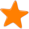 Orange Star Editedr Clip Art