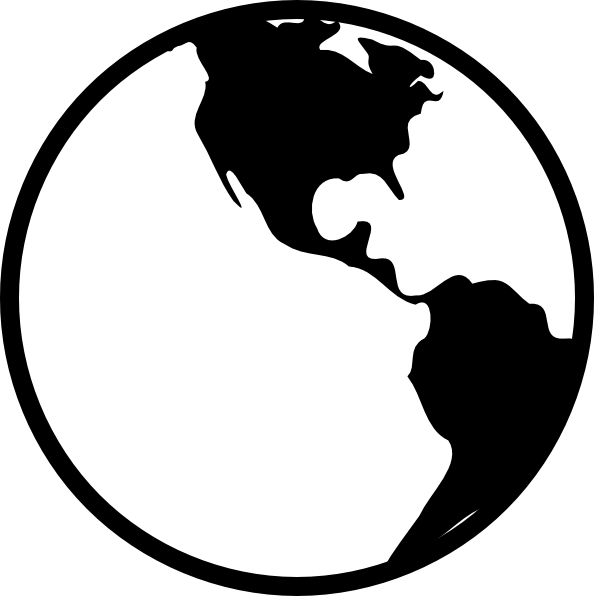 planet earth clipart black and white - photo #10
