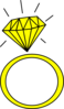 Diamond Ring-yellow2 Clip Art