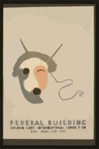 Indian Court, Federal Building, Golden Gate International Exposition, San Francisco, 1939 Eskimo Mask, Western Alaska/ Siegriest. Clip Art