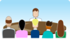 Face-off Seating Arrangement (group Discussion) Clip Art