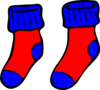 Blue And Red Socks Clip Art