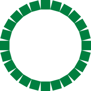 Circle Square Deep Green Clip Art