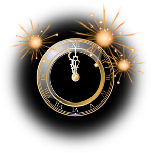 New Years Clock Clip Art