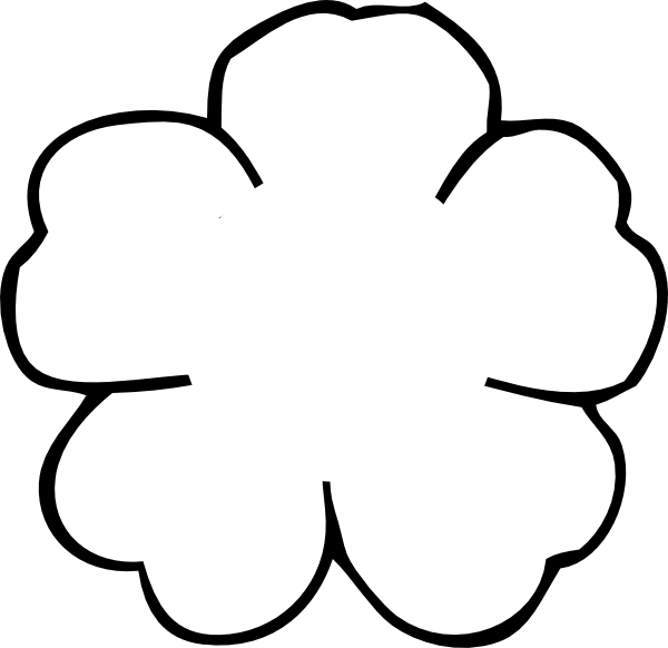 Flower Outline Drawing : Flower outline no center clip art at clker vector