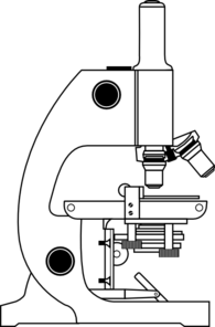 Microscope With Labels Clip Art