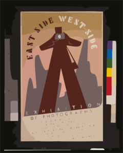 East Side, West Side Exhibition Of Photographs Clip Art