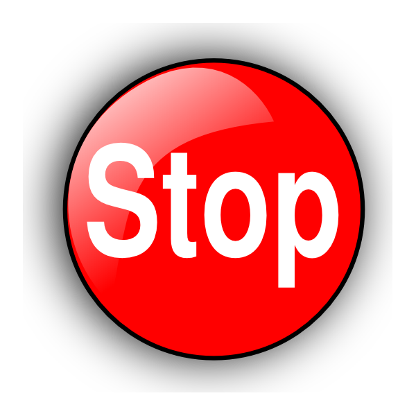 Stop Clipart Png Stop Button Clipart