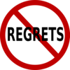 No Regrets Clip Art