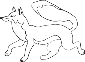 fox outline clipart