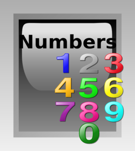 Numbers Button Clip Art