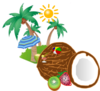 Ball, Sun, Tree Clip Art