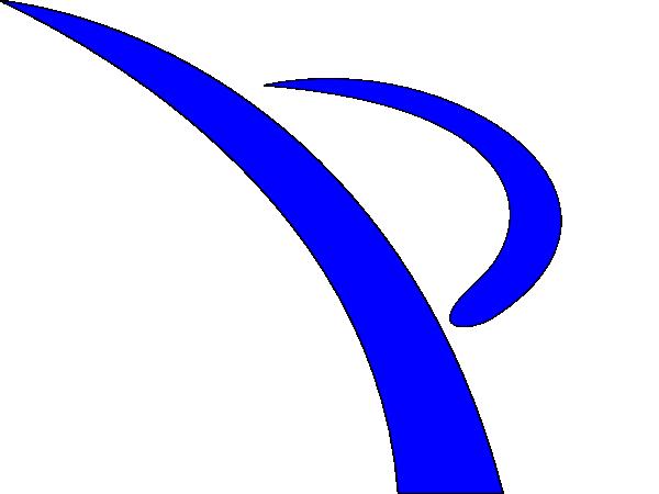 blue swoosh kicker clip art at clker com vector clip art online rh clker com swish clip art baseball swoosh clipart