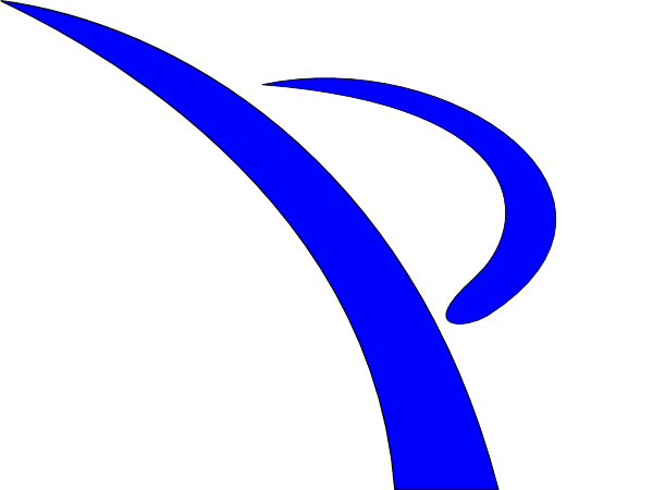 blue swoosh kicker clip art at clker com vector clip art online rh clker com baseball swoosh clipart swish clip art