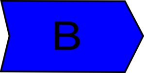 Arrow With An B Bright Blue Clip Art