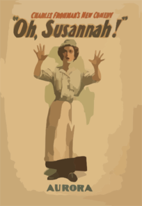 Charles Frohman S New Comedy, Oh, Susannah! 4 Clip Art
