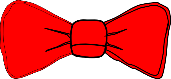bow tie red clip art at clkercom vector clip art online