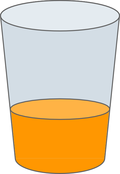Orange Juice Glass Clipart Orange Juice in Glass Clipart