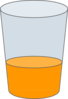 Orange Juice In Glass Clip Art