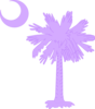 Purple Palm And Moon Clip Art