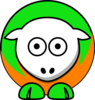 Sheep - Green And Orange Clip Art