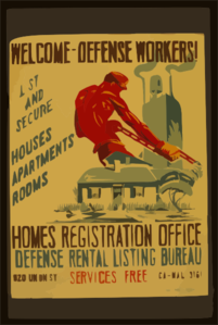 Welcome - Defense Workers! Homes Registration Office : Defense Rental Listing Bureau / Joe Donaldson, Jr. Clip Art