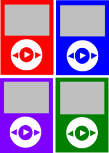 Bold Color Ipods Clip Art