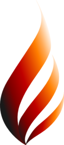 Orange Logo Flame - Narrowed Clip Art