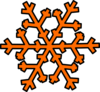 Orange Snowflake 2 Clip Art