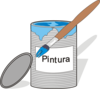 Paint Tin Can And Brush Clip Art