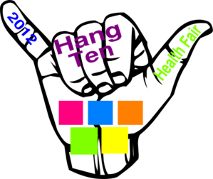 Hang Ten Health Fair Clip Art