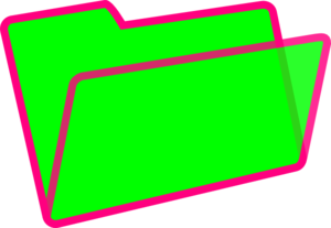 Green Folder Clip Art