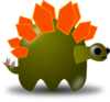 Cartoon Stegosaurus Clip Art