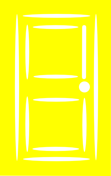 Download this image as  sc 1 st  Clker & Yellow Door Clip Art at Clker.com - vector clip art online ... pezcame.com