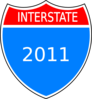 Interstate 2011 Clip Art
