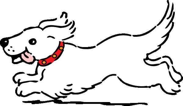 white dog clip art at clker com vector clip art online royalty rh clker com clipart black and white dog dog clipart black and white silhouette
