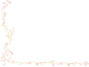 Pink And Gold Vine Clip Art