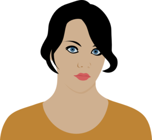 Woman With Dark Brown Hair Clip Art