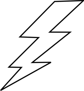 lightning bolt coloring pages | Lightening Clip Art at Clker.com - vector clip art online ...